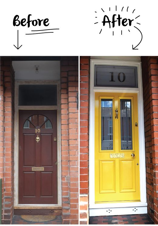 For a front door yellow may be considered a brave choice but coupled with a classic door, it's a simple but tasteful way of bringing a Victorian Terrace bang up to date. A contemporary twist on a Victorian original. Think Charles Dickens styled by Anna Piagi...