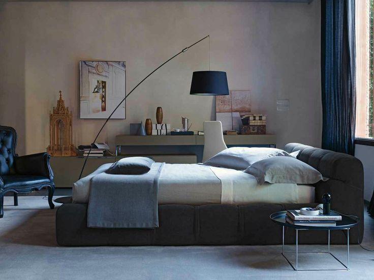 LETTO CONTENITORE IMBOTTITO MATRIMONIALE IN TESSUTO TUFTY BED COLLEZIONE TUFTY TIME BY B&B ITALIA | DESIGN PATRICIA URQUIOLA