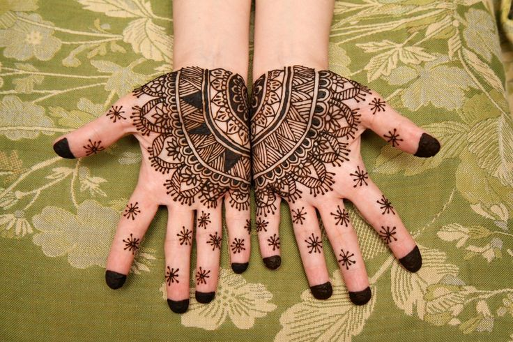Henna palms hands moroccan style