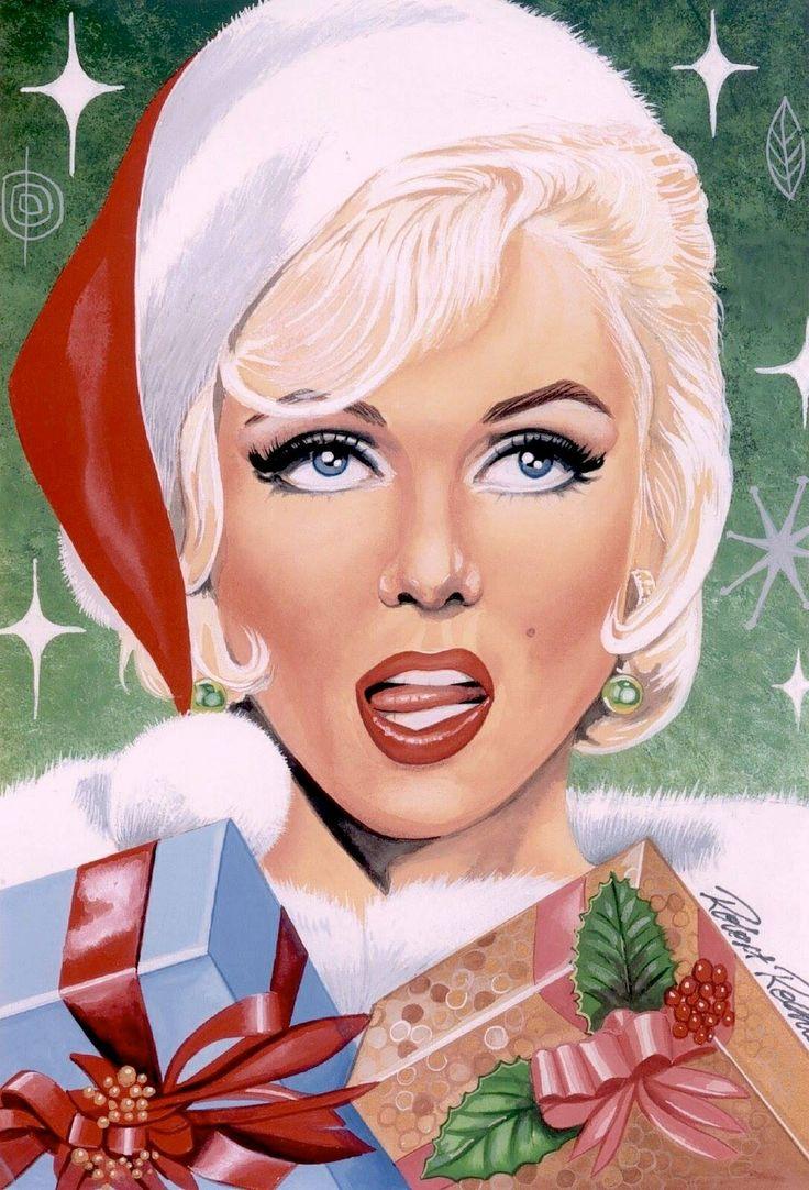 Marilyn Monroe illustration / Merry Christmas!