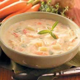 Golden Seafood Chowder Recipe