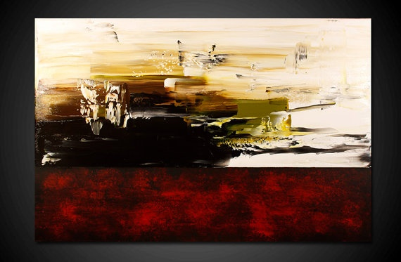 Abstract Painting 20 OFF Large Wall Art Modern Art by therawcanvas, $289.00