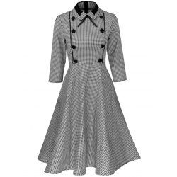 SHARE & Get it FREE   Plus Size Vintage Houndstooth Print Pin Up DressFor Fashion Lovers only:80,000+ Items • FREE SHIPPING Join Twinkledeals: Get YOUR $50 NOW!