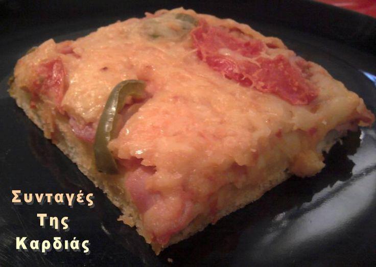 Αφράτη ζύμη για πίτσα, με συνταγή της φίλης μου Τηλεμάχης Μπ.  Αξίζει να την δοκιμάσετε!!!   Τα υλικά μας:  1 κουτί sprite (330ml)  1 ποτήρι...
