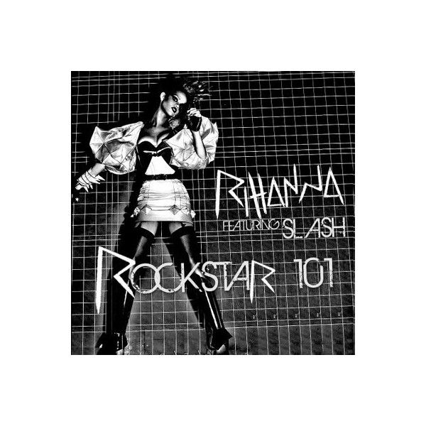 Take A Look At Rihanna's Rockstar 101 featuring Slash Album Cover! ❤ liked on Polyvore featuring backgrounds and rihanna
