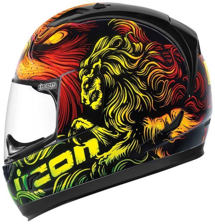 2015 Icon Mens Alliance Majesty Motorcycle Street Bike Helmet