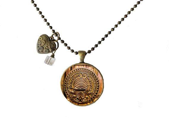 Unique Temple Necklaces  SLC temple doorknob  by LDSDecordotcom, $15.00