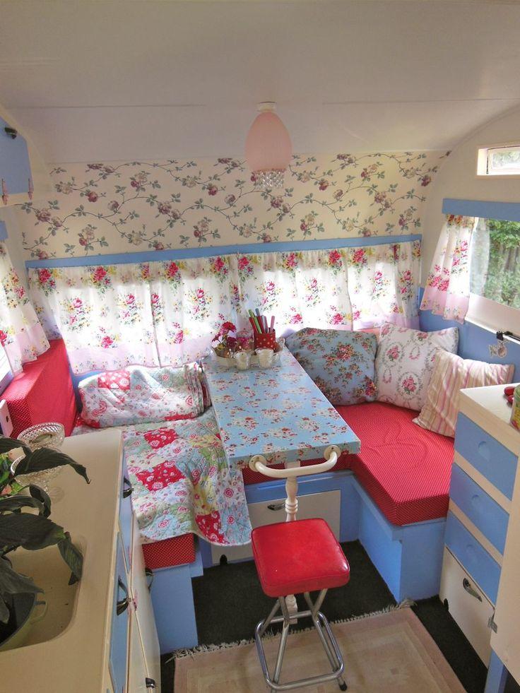 Ideas para decorar con estilo vintage el interior de las caravanas - Decoracion interior caravanas ...