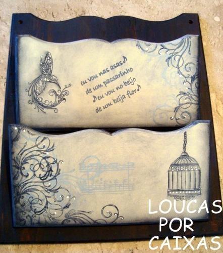 Porta cartas com carimbos para artesanato - Loucas por caixas - Terra Fotolog