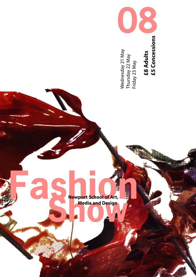 Fashion Show Poster - Salt/Peppered:Design/Photography