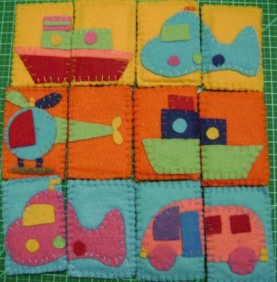 quebra-cabeça simplens em feltro quebra-cabeça feltro,eva,linha hand made,patchcolagem