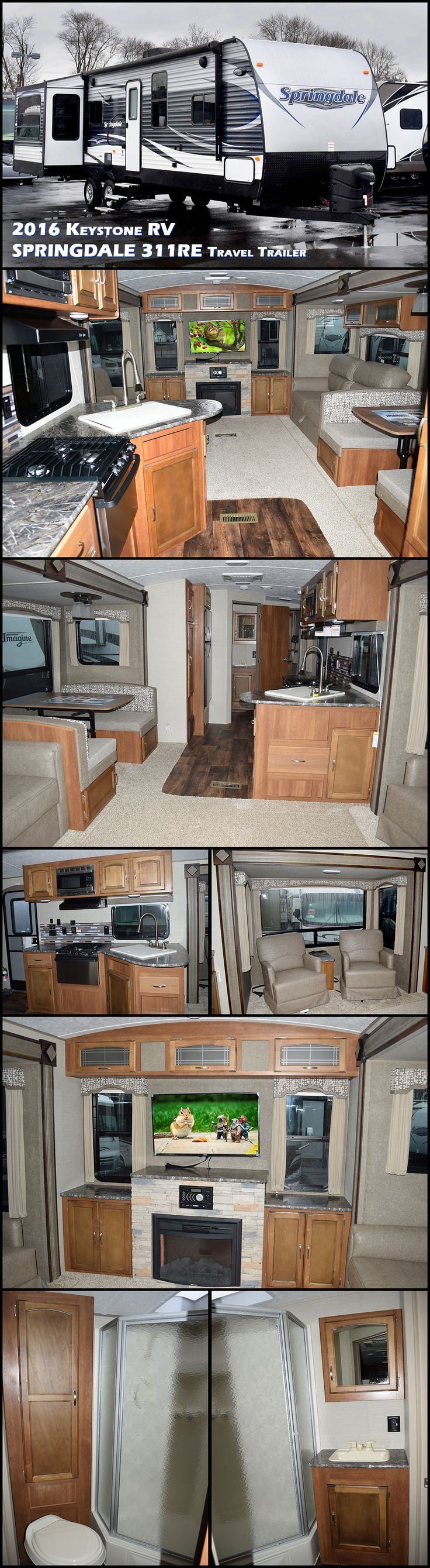 108 best travel trailers images on pinterest travel trailers the 2016 keystone springdale 311re travel trailer features a rear entertainment layout dual opposing slides