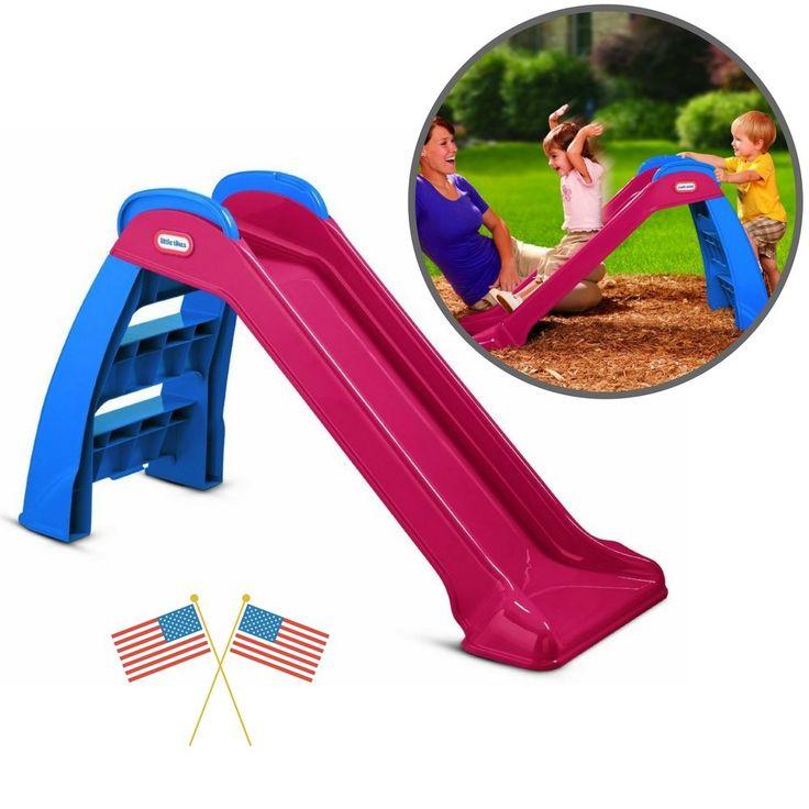 Summer Toys Games Kids Outdoor Patio Fun Entertainment First Slide Easy Storage  #ToysGamesKidsFirstSlide