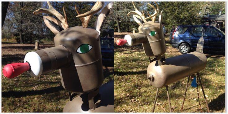 Propane tank art, deer.  #propanetankart