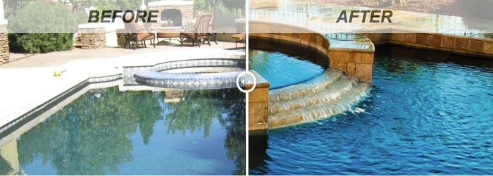 Swimming Pool Renovations: Before and After | Backyard/Pool ...