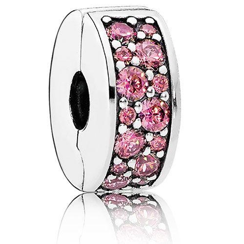 PANDORA:  Shining Elegance Honeysuckle Pink, Silicone Clip