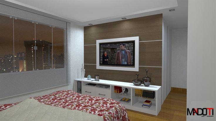 Rack Branco Com Painel Para Quarto ~ Quartos and TVs on Pinterest