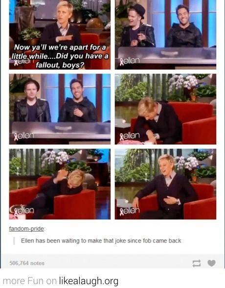 Ellen and Fallout Boy