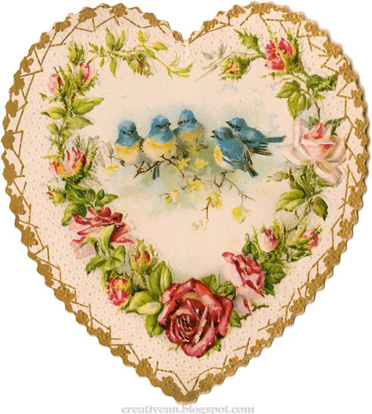 Сердце, ангелы клипарты. Vintage. День Святого Валентина.: На крыльях вдохновения.