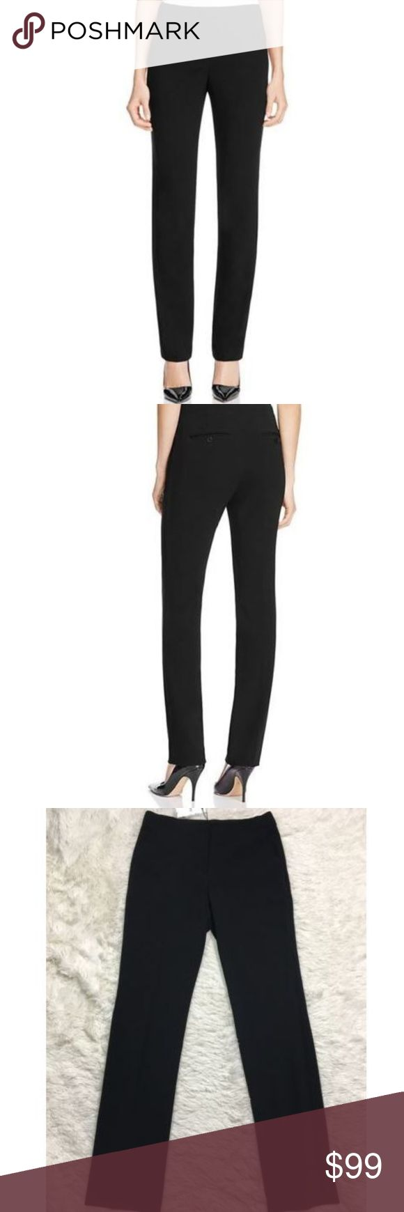 Theory Pants 4 Black Litrella Admiral Crepe New Theory Pants size 4 Black Litrella Admiral Crepe Slacks Trousers Womens NEW NWT Inseam is 34 inches, unstretched.   Waist is 31 inches unstretched. Theory Pants Trousers