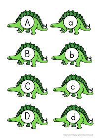 Mummy G early years resources: Dinosaur letters and numbers