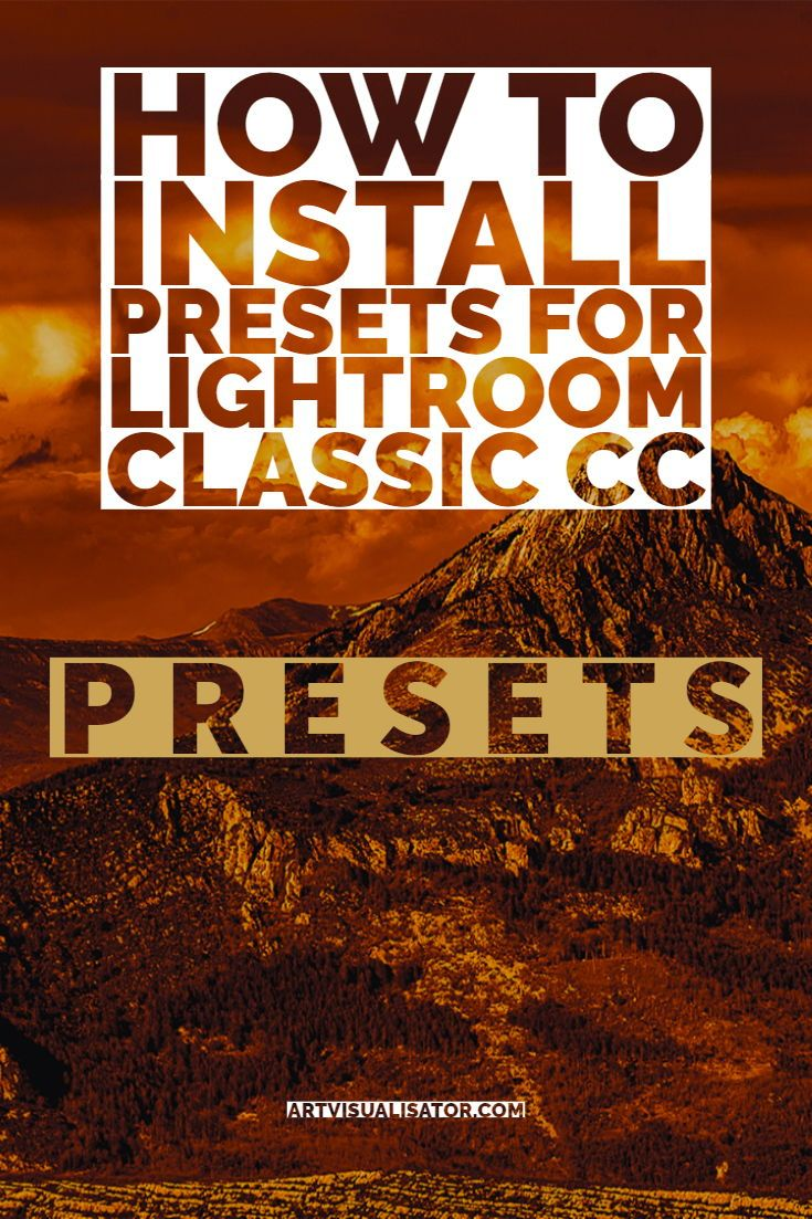 How to install presets for Lightroom Classic CC for Desktop