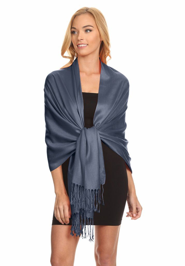 Simlu Wrap Scarf Pashmina Shawls and Wraps, Silky Wedding Scarf Stole for Women