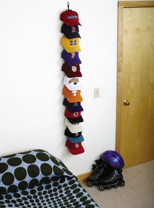 baseball hat storage ideas