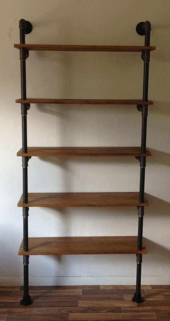 This fantastic industrial shelf unit is produced from real gas pipes, threaded together to create a unique piece of furniture full of character!
