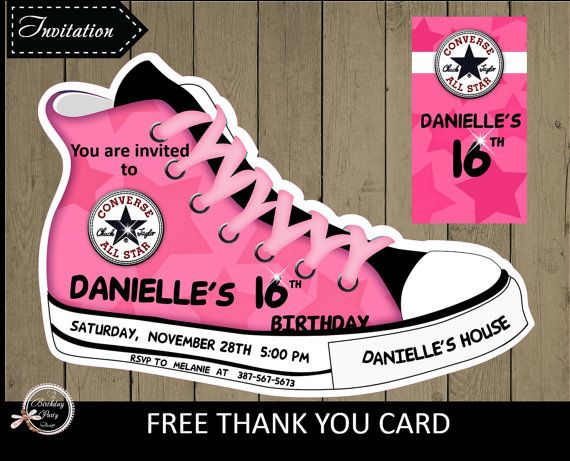 Hey, I found this really awesome Etsy listing at https://www.etsy.com/listing/255158522/birthday-party-invitation-converse