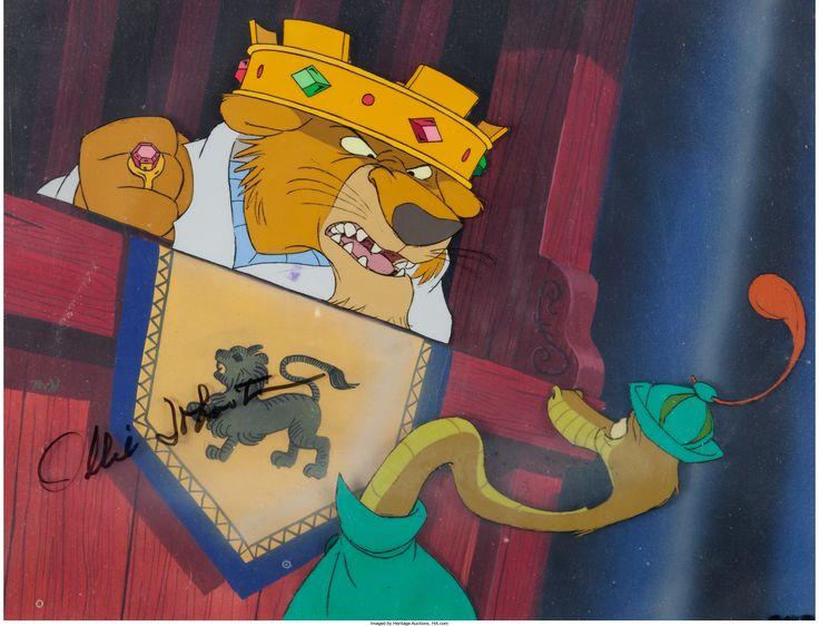 Robin Hood Prince John and Sir Hiss Production Cel Setup (Walt Disney, 1973)