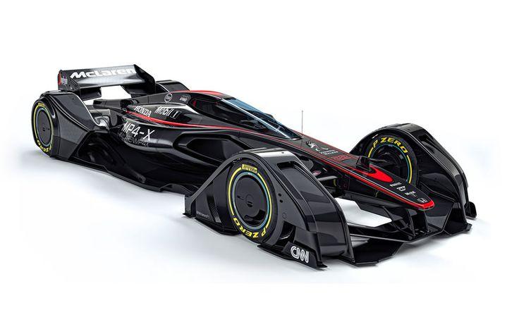 McLaren MP4-X Formule 1 du futur  #design #car #sketch