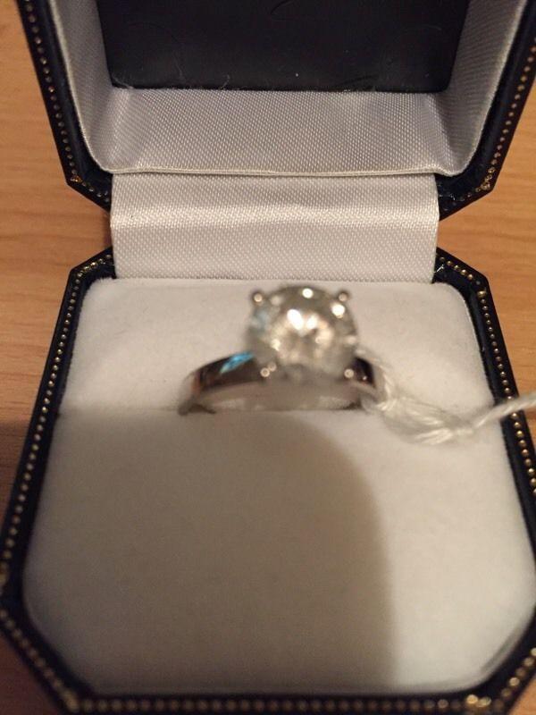2.05ct Round Brilliant Cut Diamond Solitaire White Gold Ring | United Kingdom | Gumtree