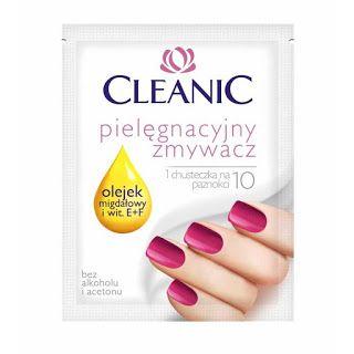 Cleanic - pielęgnacyjny zmywacz w chusteczce / Lingettes dissolvantes express de Cleanic