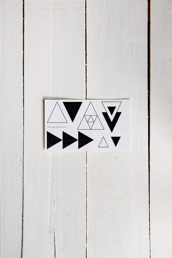 Fake Tattoos  Triangles pyramids and geometric by morningboutique, €3.50