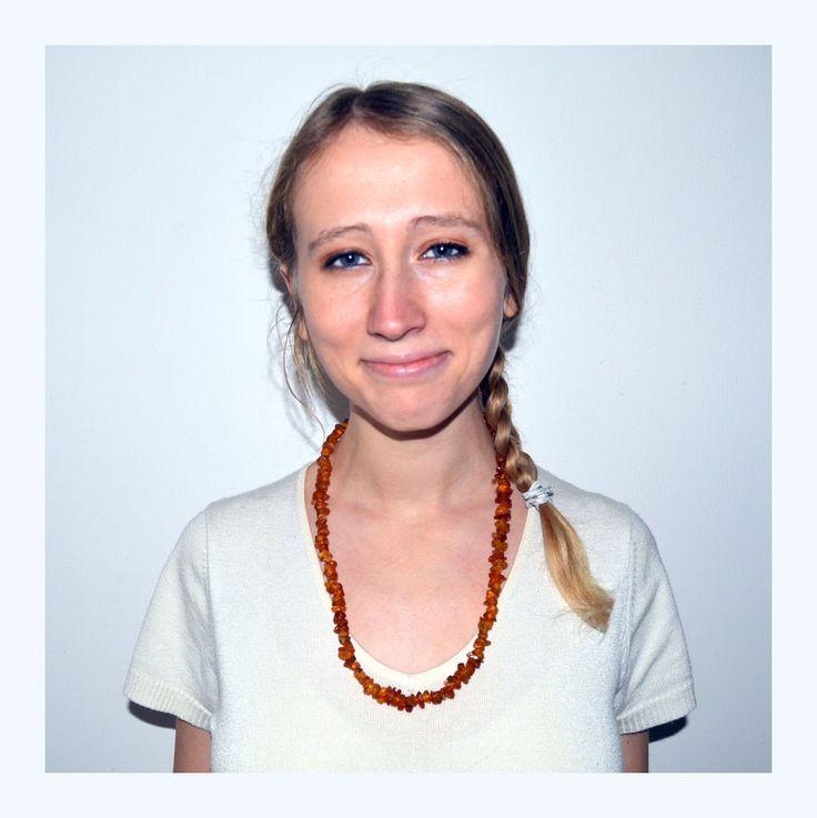 Fall Inspired Baltic Amber Necklace, natural organic amber jewelry #oyaikubijou #beaded