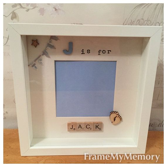 Letter X is for... scrabble frame Handmade by me using wooden scrabble tiles Theres space for a 7x5 baby photo in the middle These make