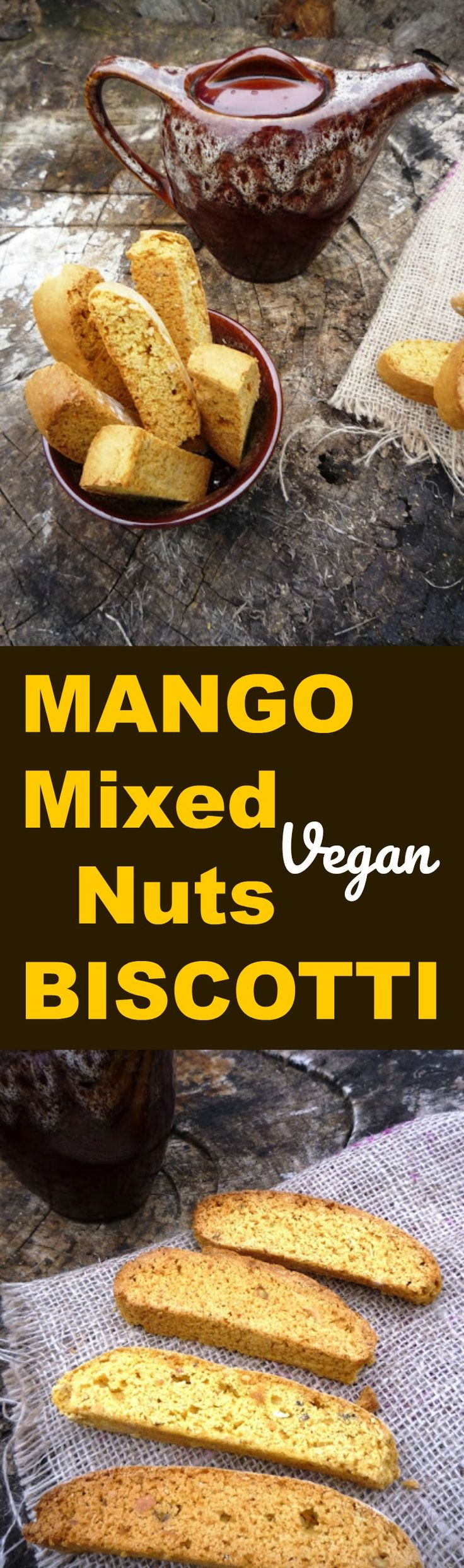 Mango and mixed nuts Biscotti vegan