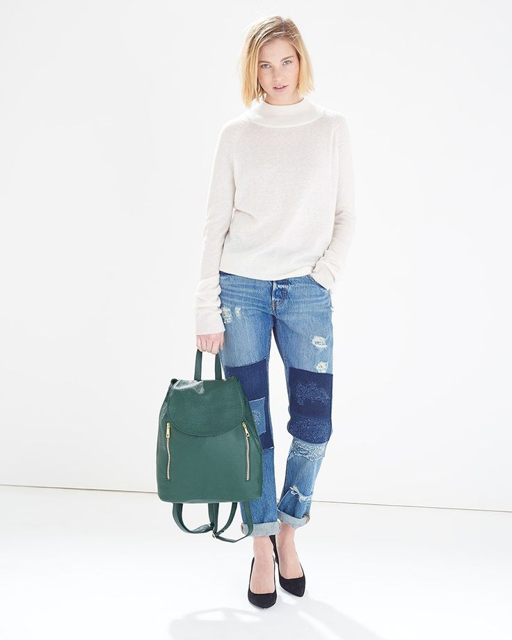 Green Leather Zip Backpack - Win your #ARWishlist at @atterleyroad