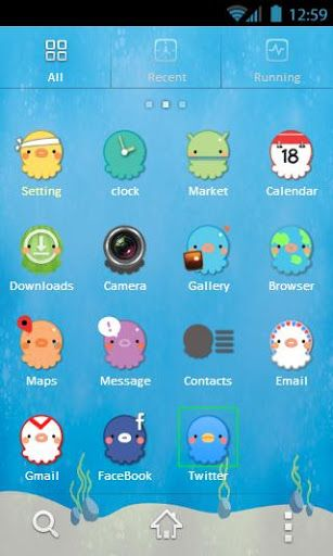 cute octopus android theme~~    more here: https://play.google.com/store/apps/developer?id=Ptoo