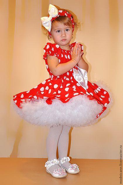 """Одежда для девочек, ручной работы. Ярмарка Мастеров - ручная работа. Купить Детское платье """"Красное белым горохом"""". Handmade."""