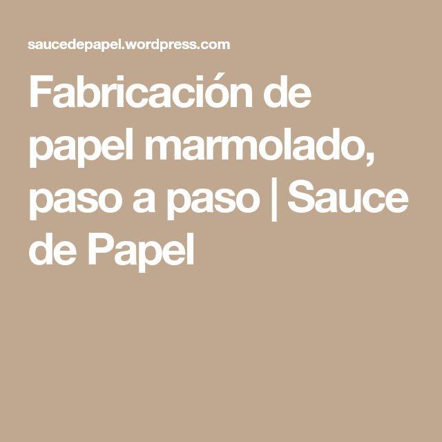 Fabricación de papel marmolado, paso a paso | Sauce de Papel