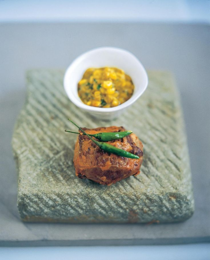 Rajasthani Roast Rump of Lamb with Corn Sauce- By Chef Vivek Singh