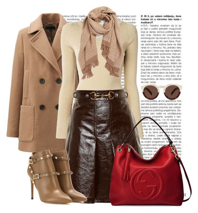 Couro by ebramos on Polyvore featuring polyvore, fashion, style, Dolce&Gabbana, Uniqlo, Gucci, Valentino, Halogen, Illesteva and clothing