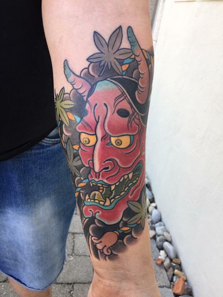 Hannya Maske gestochen von Ciro (Seven Skulls Tattoo)