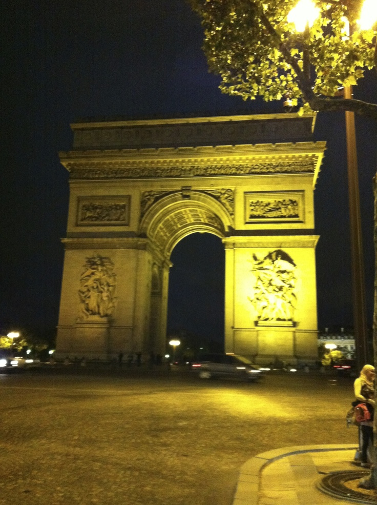 Arc de Triomphe at night (France)