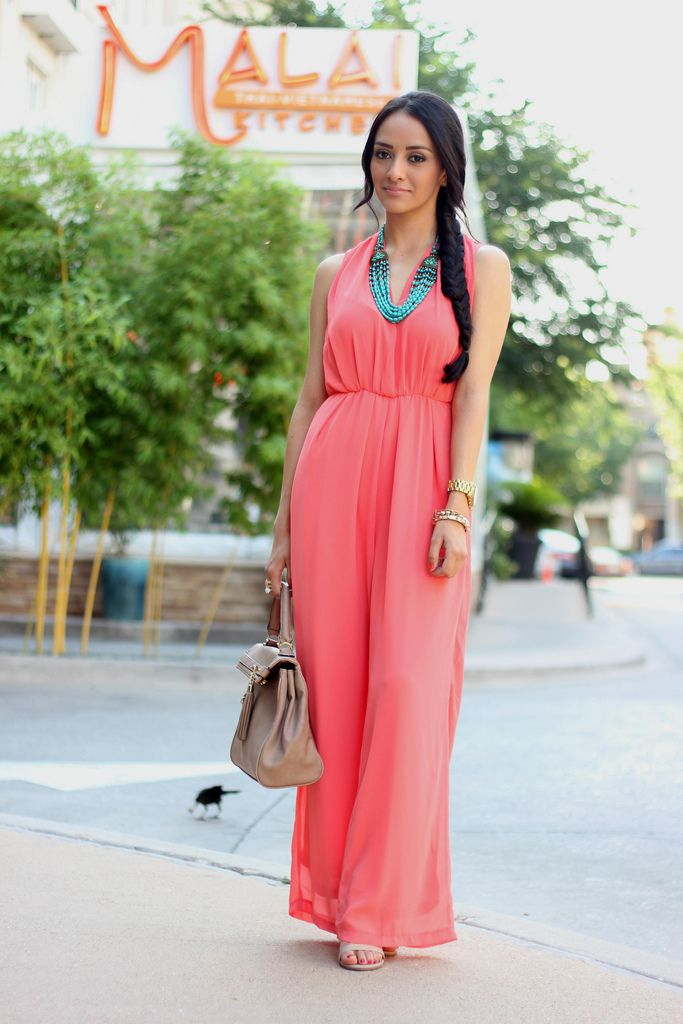 Coral Jumpsuit, this would look so pretty on a curvy shape