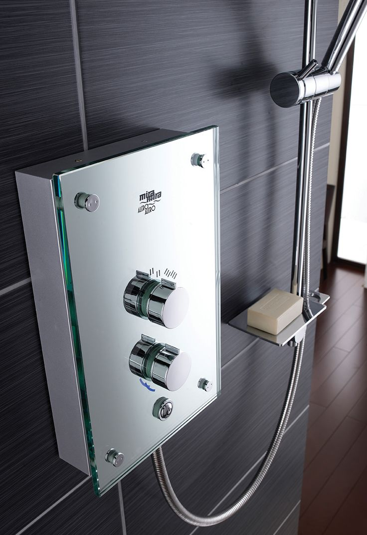 Style and performance that really makes a statement. Mira Alero Electric Shower in True Mirror Finish
