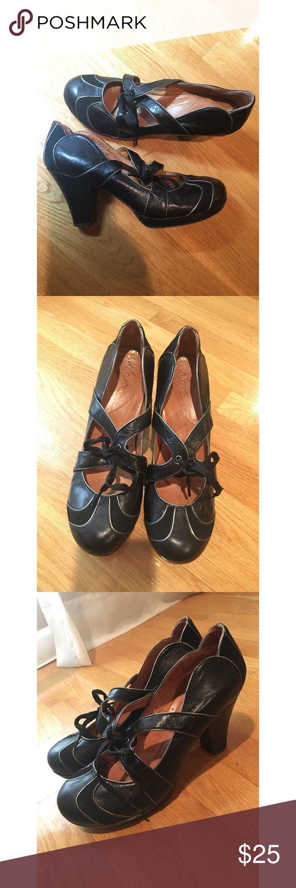 Anthropologie Naya Shoes Leather Anthropologie Brand heels 3 1/2 inches Naya Shoes Heels