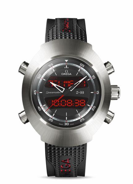 OMEGA Watches: Speedmaster Spacemaster Z-33 - Titanium on rubber strap - 325.92.43.79.01.001